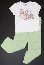 Childrens Place NEW Green Skinny Pants Tee Top 2 Piece Outfit Girls XS 4 4T - $14.50