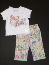 Childrens Place NEW Green Floral Pants & Top 2 Piece Outfit Girls 6-9M - $10.00