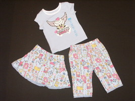 Childrens Place NEW Blue Floral Pants Top Skort 3 Piece Outfit Girls 6-9M $26.50 - $11.50