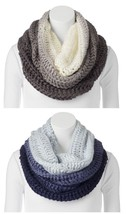 Apt.9 Womens Ombre Cowl Infinity Scarf Sweater Knit Black or Navy NEW $32 - $16.50