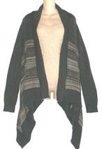 Daisy Fuentes NEW Gray Draped Open Front Cardigan Sweater Womens Size M $60 - $39.80 CAD