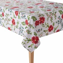 Food Network Christmas Holly & Pine Poinsettia Stain-Resistant Fabric Ta... - €24,66 EUR+