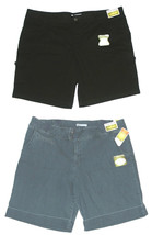 Lee NEW Black or Blue Denim Natural Fit Bermuda Shorts Womans Size 24W $50 - $25.00