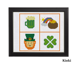 Cross Stitch Pattern Saint Patrick's symbols - $4.00