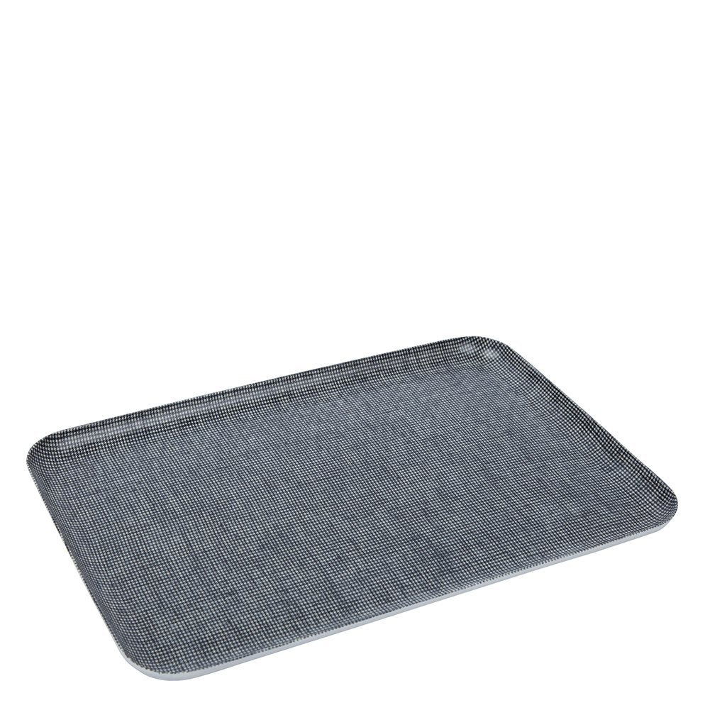 Fog Linen Work Linen Coated Tray (S) LXT001S-BKCHE Toothhound Check, Small