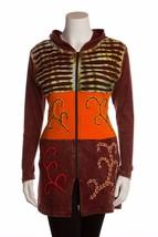 LUMBINI IMPORTS Copper Brown Handmade Nepal Hippie Boho Long Hoodie Jack... - $29.00
