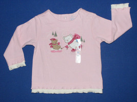 Childrens Place NEW Pink 100% Cotton Teddy Bears Top Girls Size 3-6 Months - $7.00