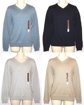 Sonoma NEW Black Blue Gray Beige 100% Cotton V-Neck Sweater Mens S M XL ... - $22.00