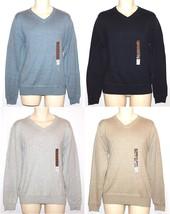 Sonoma NEW Black Blue Gray Beige 100% Cotton V-Neck Sweater Mens S M XL 2XL $45 - $22.00
