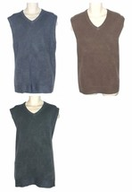 DOCKERS Mens Vest Big & Tall 2XLT or 3XL Blue Brown or Gray Soft Knit NE... - $19.00