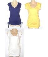 NEW OP Cotton Knit Tee Top Side Ties or Shoulder Ties Womens Jr S M L - $9.99