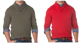 Chaps NEW Mens Shawl Collar Terry Cotton Pullover Sweater Top XLT Tall $72 - $36.00