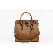 Michael Kors Ladies Hamilton Large Leather Tote Handbag - $359.00