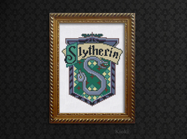 Cross Stitch Pattern Slytherin Emblem - $5.00
