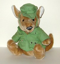 1/2 Price! Dakin Plush Kangaroo Green Hat Jacket 1987 Like New - $10.00