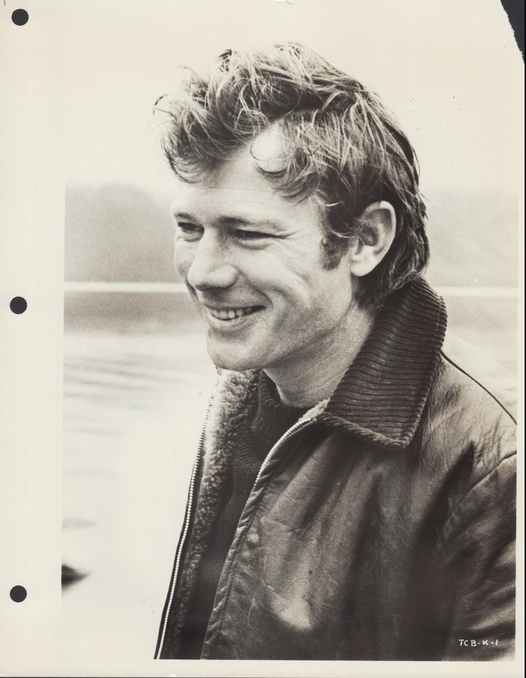 Michael Parks (Then Came Bronson) 8x10 Black & white publicity photo