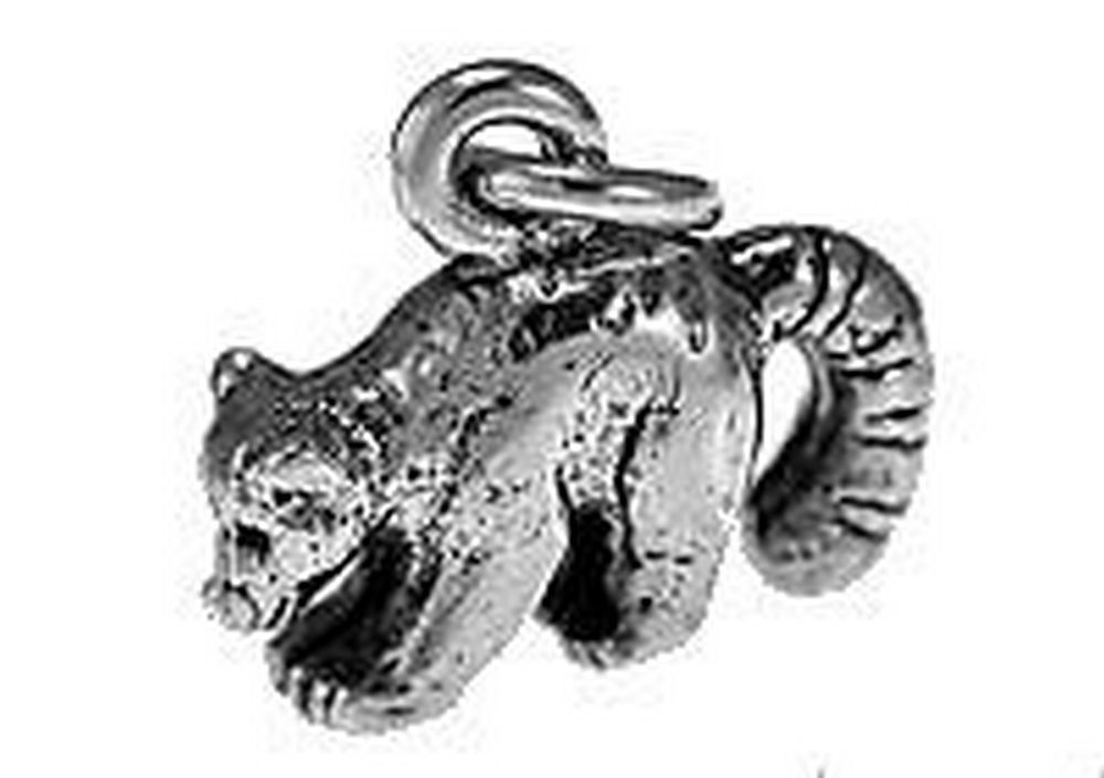New 3D Raccoon Charm Sterling Silver 925 jewelry racoon