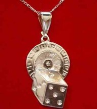 Roulette Luck Casino Dice Pendant Charm Sterling silver - $36.35