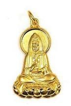 Buddah Quan Yin Goddess Buddha Gold plated Charm silver - $24.88