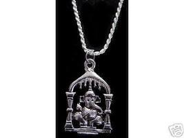 Hindu Cartoon Elephant OM Charm Sterling silver Ganesh - $15.31