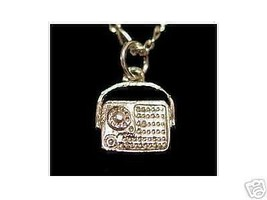 Music  Radio Sterling Silver Pendant Stereo - $15.31