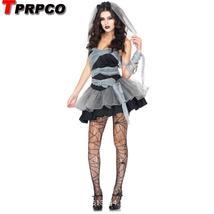Black Devil Bride Tube Layered Dress Custume image 1