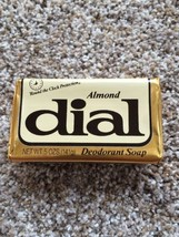 Almond Dial Bath Soap Bar Sealed Foil Package Great for Prop Vintage Dis... - $10.39