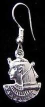 Silver 925 Cleopatra Goddess Egypt Earrings egyptian - $28.71