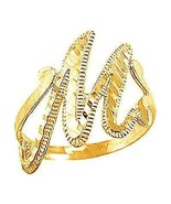 New Authentic Genuine Real 10K Yellow Gold letter Initial M Elegant ring... - $199.99