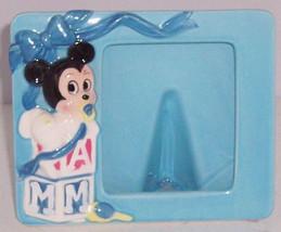 Walt Disney Frame Photo Minnie Mouse Picture Baby Blue Ceramic Vintage - $14.97