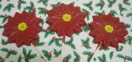 Set of 3 Large Poinsettia Lollipops - $7.00