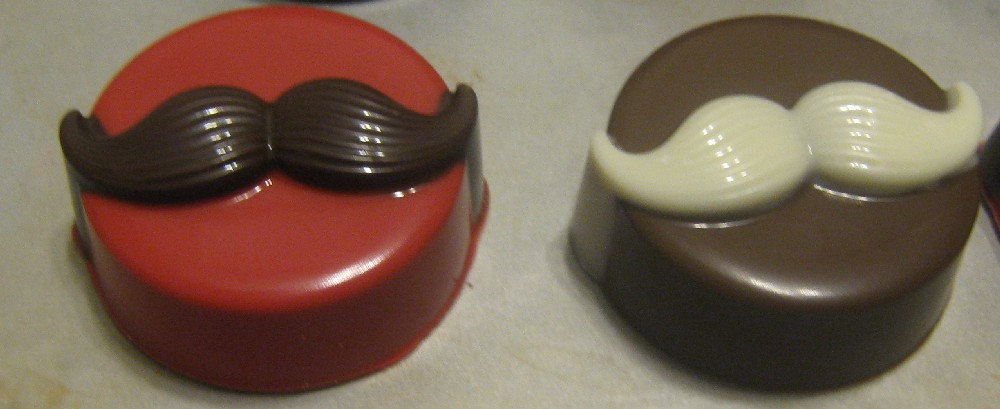 One dozen amazing mustache chocolate covered sandwich cookies image 2