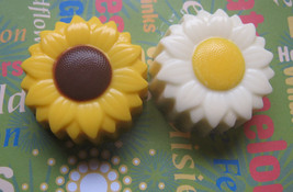 One dozen sunflower or daisy designed chocolate covered sandwich cookie ... - $18.00