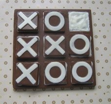 Solid chocolate playable tic tac toe edible chocolate game board image 2