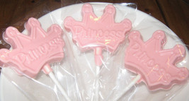 One dozen princess crown lollipops - $16.50