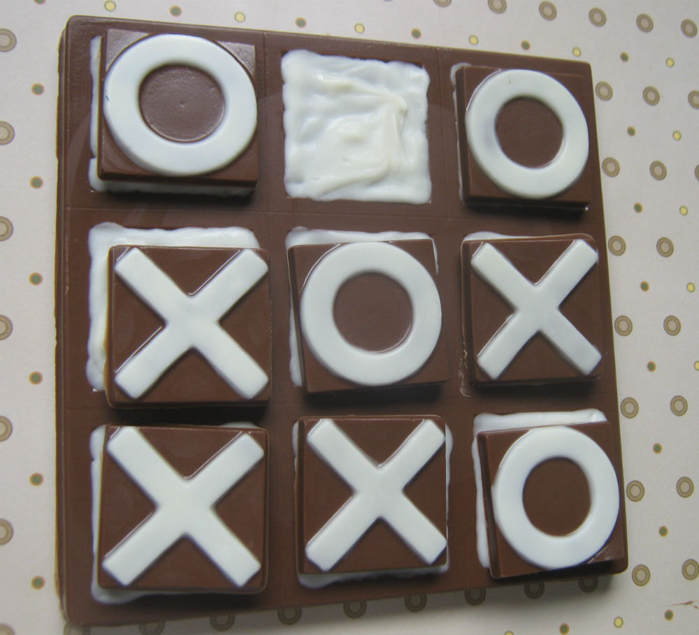 Solid chocolate playable tic tac toe edible chocolate game board image 5