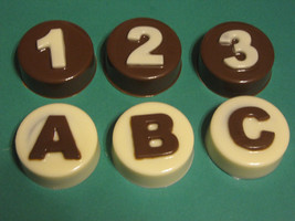 ABC and 123 customizable chocolate covered sandwich cookie party favors - $1.75
