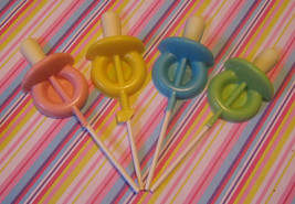 One dozen baby pacifier lollipop sucker party favors - $18.00