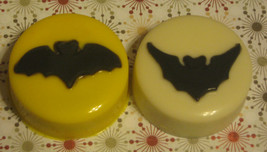 One dozen bat design chocolate covered sandwich cookie party favors Hall... - $18.00