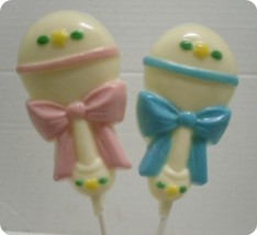One dozen adorable baby rattle lollipops - $19.25