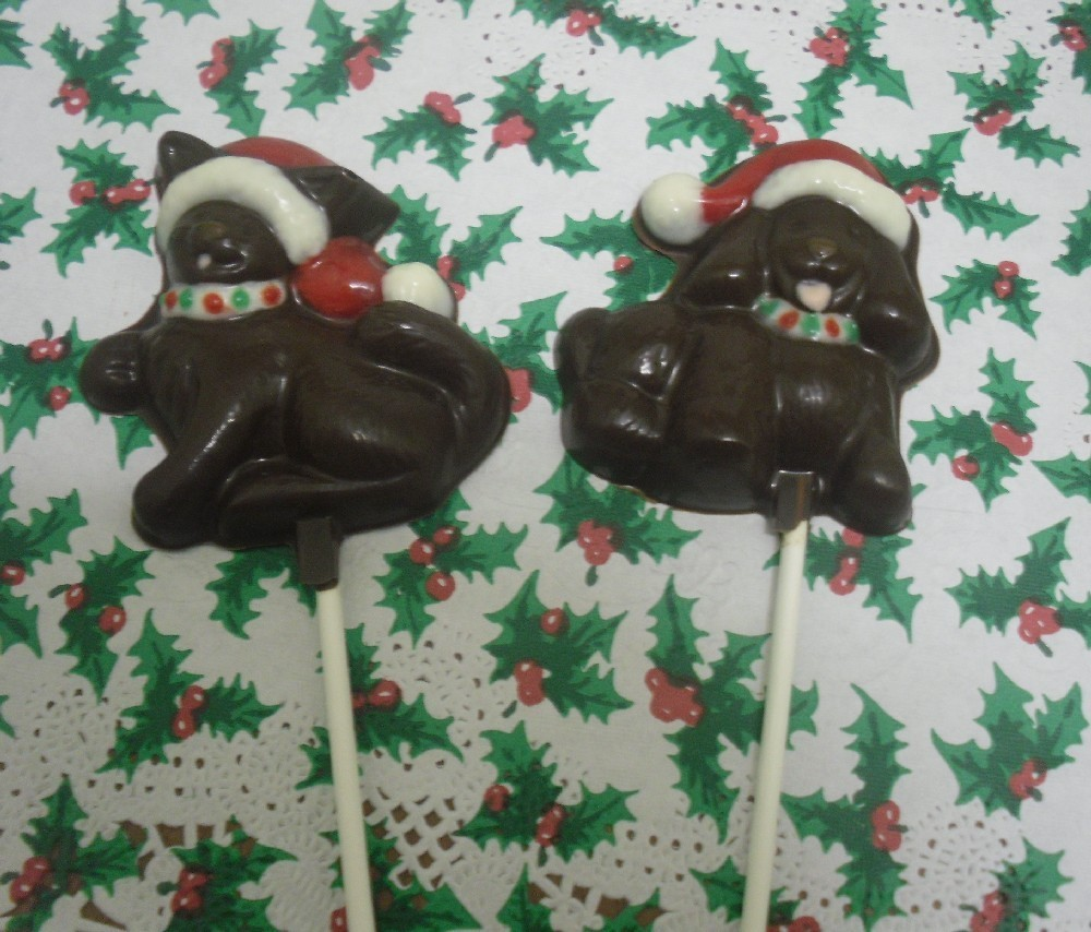Primary image for Christmas Kitty or Doggie Lollipops 6 piece