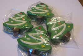 One dozen chocolate covered sandwich cookie Christmas trees - $24.00