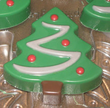 One dozen chocolate covered sandwich cookie Christmas trees image 2