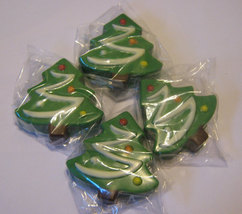 One dozen chocolate covered sandwich cookie Christmas trees image 3
