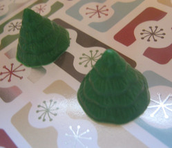 Mini tree cupcake toppers one dozen Christmas tree party favors - $15.00