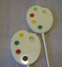 One dozen painters palette lollipops suckers party favors - $19.25