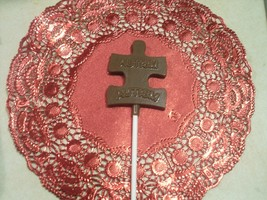 Chocolate Autism Awareness Sucker\/Lollipops - $18.00
