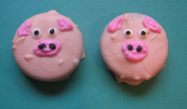 One dozen piggy design chocolate covered sandwich cookie party favors image 3