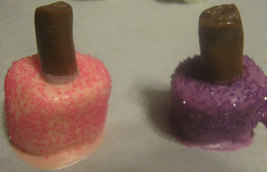 One dozen nail polish bottle chocolate covered marshmallows party favors image 2