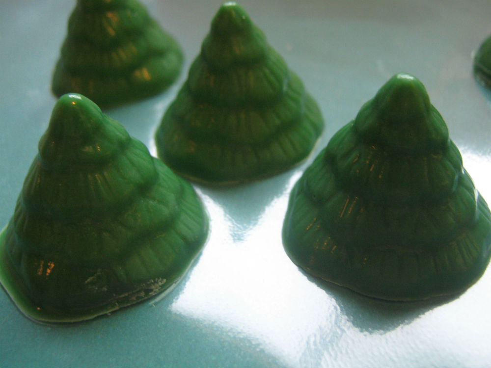 Mini tree cupcake toppers one dozen Christmas tree party favors image 2